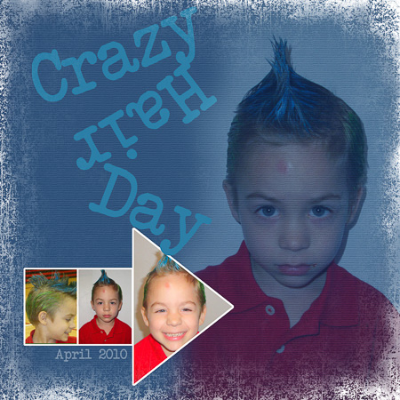 Aidan's crazy hair _