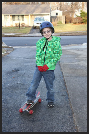 Aidan's first time skateboarding 1