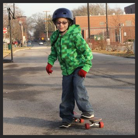 Aidan's first time skateboarding 2