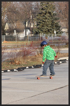 Aidan's first time skateboarding 3