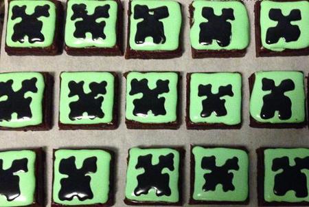 minecraft birthday brownies
