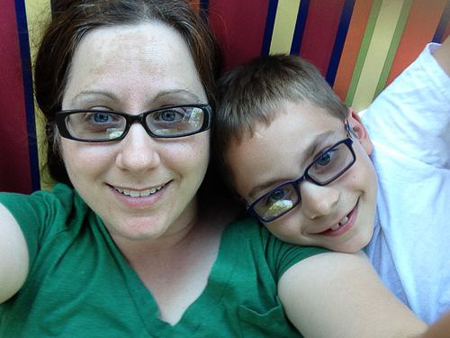 mom and son hammock time