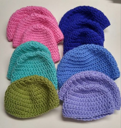 Hats for hospital preemies & newborns