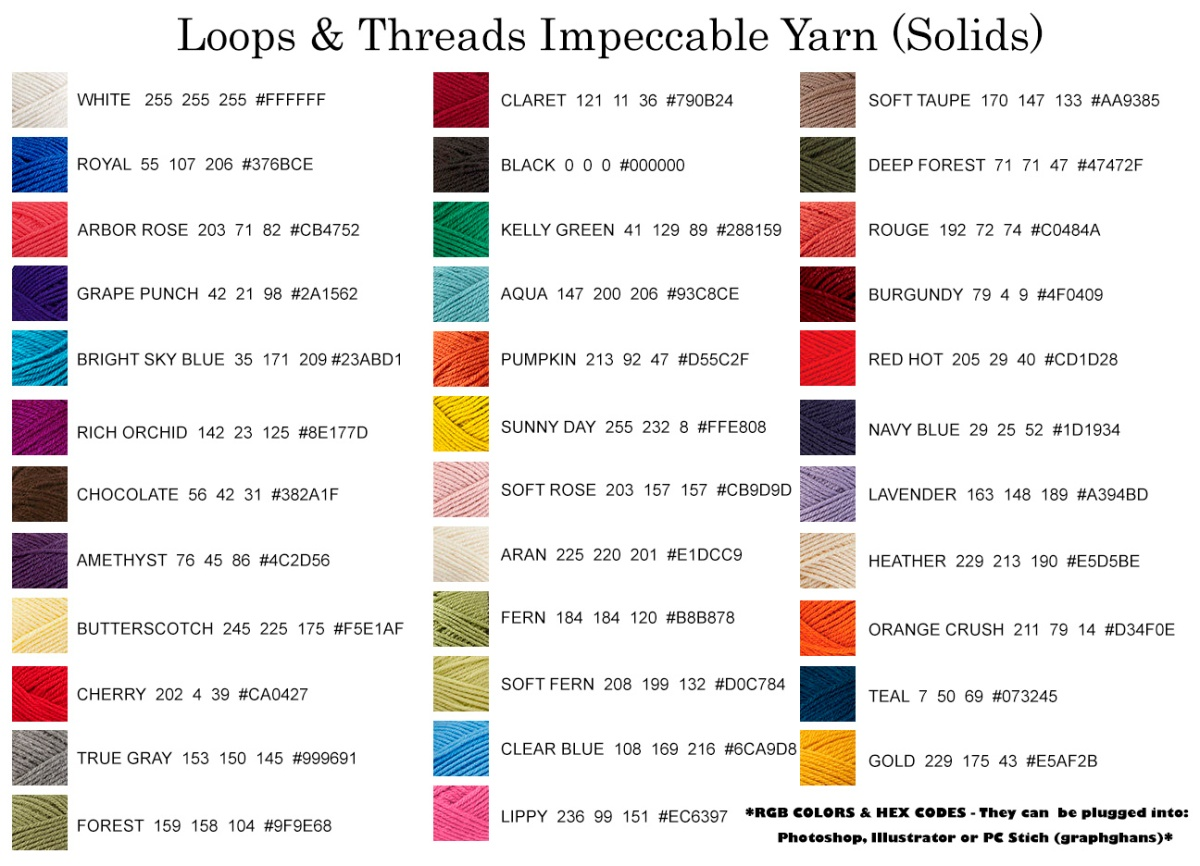 loops and threads impeccable yarn solids rgb