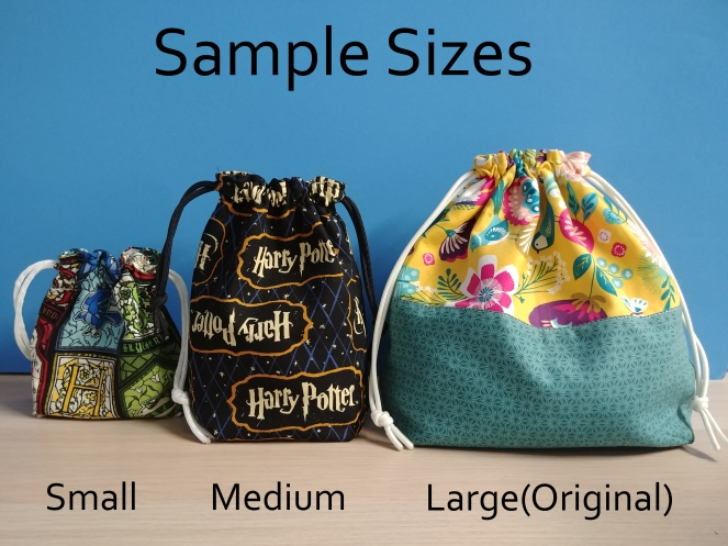 Sample Project Bag Sizes